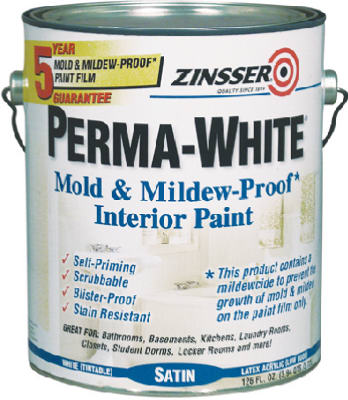 Zinsser 2711 Perma-White Mold & Mildew Proof Interior Paint, 1 Gallon