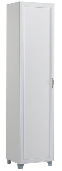 AkadaHOME ST103210A Single Door Storage Cabinet, White