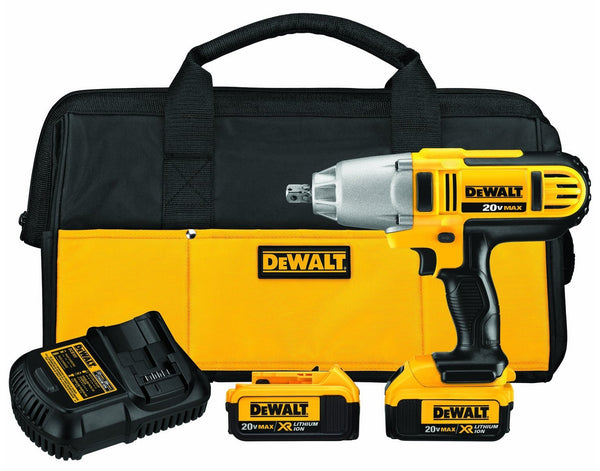 DeWalt DCF889M2 Lithium Ion Cordless Impact Wrench Kit, 20 V