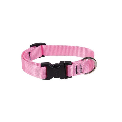 "Lupine 57501 9""-14"" Adjustable Nylon Dog Collar, Pink"