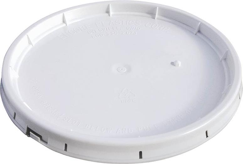 Encore 50000 5-Gallon Tear Strip Gasketed Lid, White