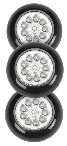 Fulcrum 30016-303 9-LED Anywhere Light, 3 Piece, Black