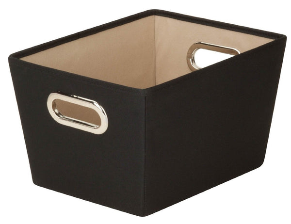 Honey Can Do SFT-03071 Decorative Storage Bin, Small, Black