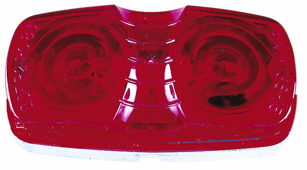 Peterson V138R Double Bulls-Eye Clearance/Side Marker Light, Red
