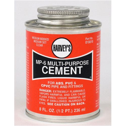 Harveys 018010-24 MP-6 Multi-Purpose Solvent Cement, 8 Oz