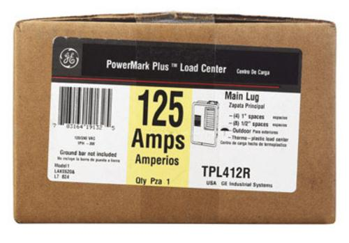 GE TPL412RP Outdoor Main Lug Load Center, 125 Amp