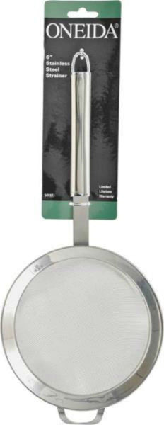 Oneida 54197 Strainer, Stainless Steel, 6""