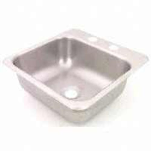 "Sterling Plumbing B155 Stainless Steel Bar Sink, 15"" x 15"" x 5-1/2"""