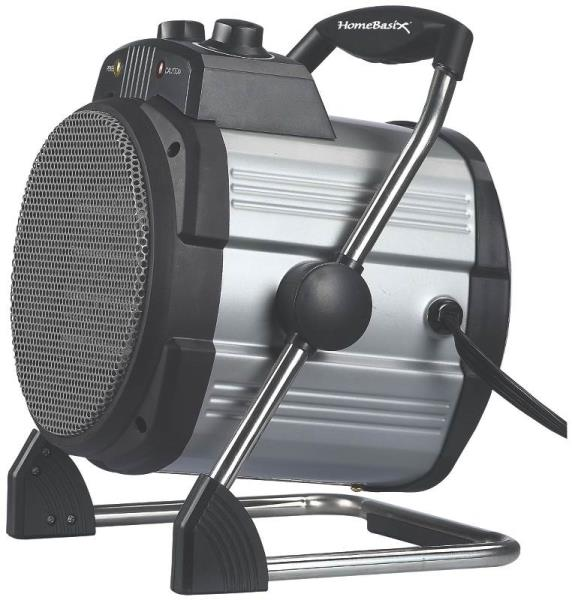 Homebasix DQ1016A Ceramic Heater with 3-Settings, 12.5 Amp