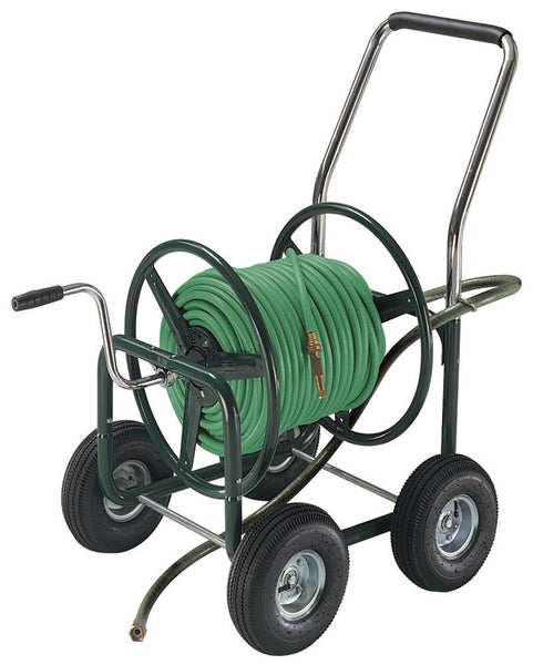Ames 2380500 Estate Hose Reel Wagon With Pneumatic Wheels, 400' x 5/8""