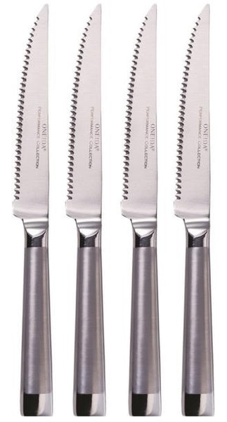 Oneida 55106 Oval Handle Stainless Steel Steak Knife, Set of 4