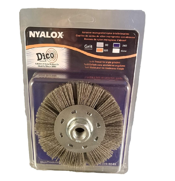 Dico Products 7200075 Nyalox Wheel Brush Coarse, Grey