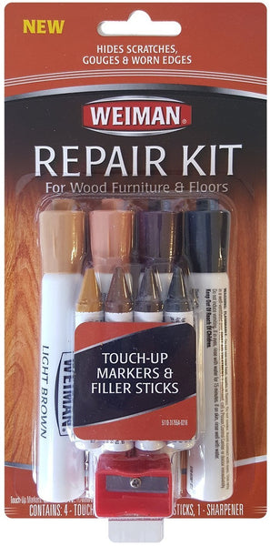 Weiman 511D Wood Repair Kit For Furniture & Floors, 9 Piece