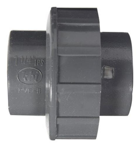 King Brothers U-1250-S Schedule 80 Pvc Union 1-1/4""