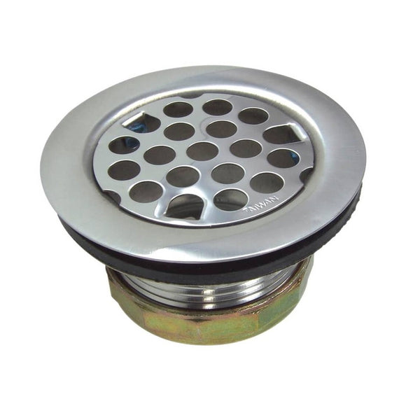 Danco 89072 Flat Universal Sink Strainer Assembly, Chrome Plated