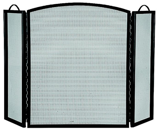 "Homebasix CPO90505BK3L 3-Panel Fireplace Screen, Black, 32"" x 51-3/4"""