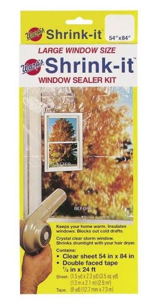 "Warp's Brothers SK-54 Shrink Window Insulator Kit, 24', 54"" x 84"""