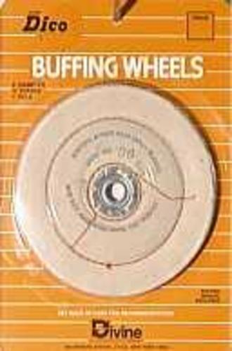"Dico Products 527-36-6 Plastic Buffing Wheel, 1/4"", Back"