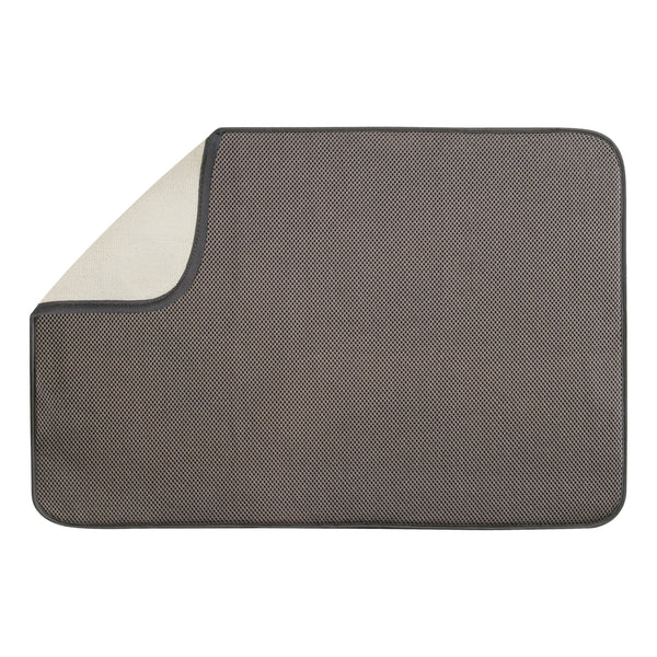 InterDesign 40231 Microfiber Drying Mat, X-Large, Mocha
