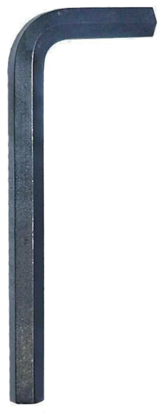 Eklind 15112 Steel Short Arm Fractional Hex L-Key,  Black Oxide, 3/16""