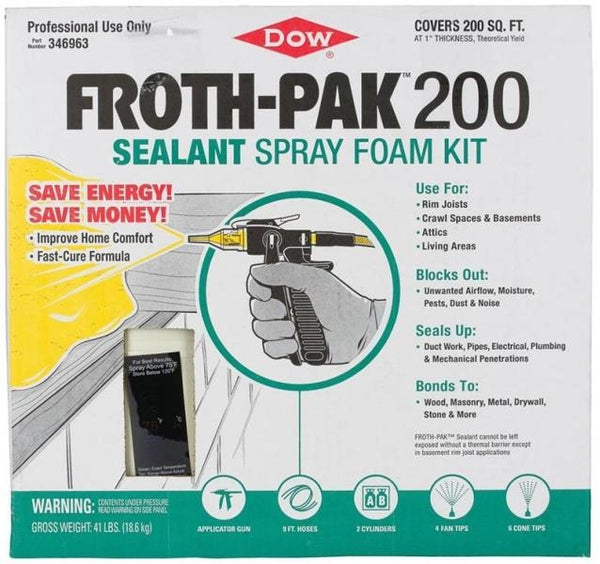 Dow 346963 Froth-Pak 200 Sealant Spray Foam Kit