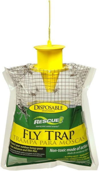 Rescue FTD-FD48 Disposable Fly Trap, Yellow