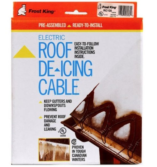 Frost King RC100 Electric Roof & Gutter De-Icing Cable Kits, 100'