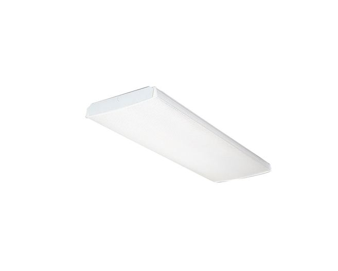 Lithonia Lighting 987213 Wraparound Fluorescent Light Fixture, 120 ...