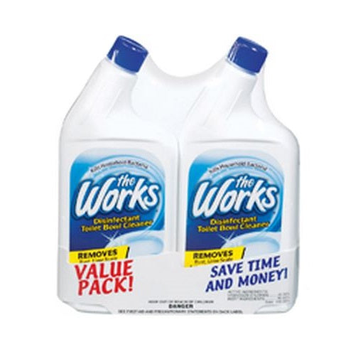 The Works 03302WK Disinfectant Toilet Bowl Cleaner