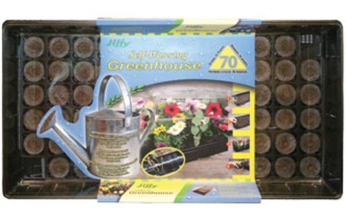 Jiffy 5262 Self Watering Greenhouse, 70 Count
