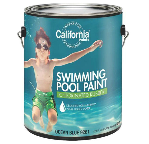 California Paint 9261 Swimming Pool Paint, 1 Gallon, Ocean Blue