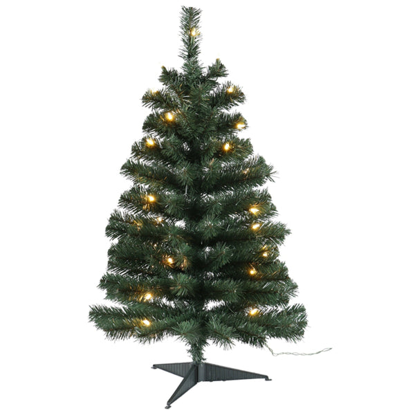 Santas Forest 61936 Fir Noble Sheared Prelit Christmas Tree, 3 Ft