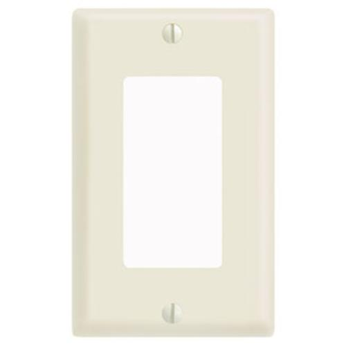 "Cooper Wiring PJ26A 1-G Midsize Decorator/Gfci Wall Plate, Mid-size - 3.125"" x 4.875"", Almond Finish"