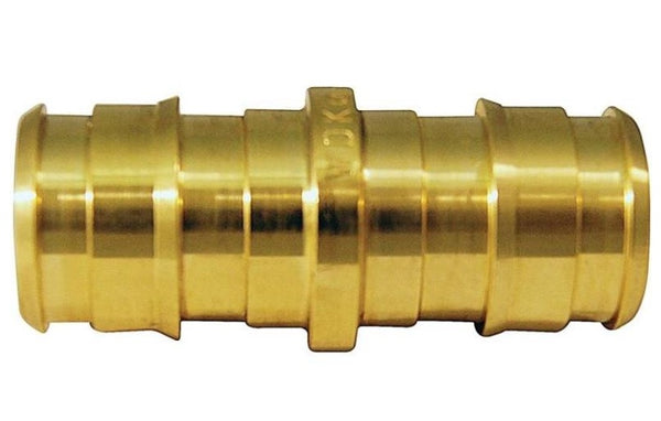 Apollo EPXC1210PK Pex Pipe Coupling, Brass, 1/2""