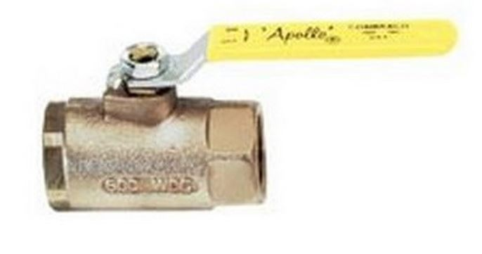 "Apollo 70LF10301 Ball Valve, 1/2"", Bronze"