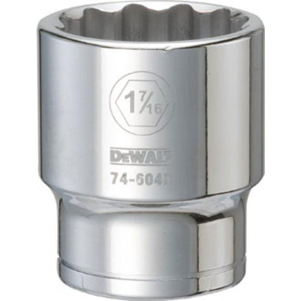 "DeWalt DWMT74604OSP SAE 12 Point Socket, 3/4"" Drive, 1-7/16"""