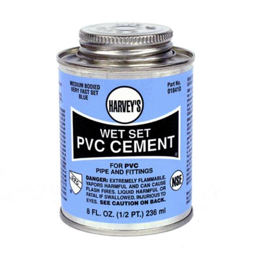 William Harvey 018410-24 P-4 Wet Set Pvc Cement Blue 8Oz