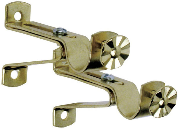 Kenney KN819 Decorative Cafe Curtain Rod Bracket, Brass, 5/8""