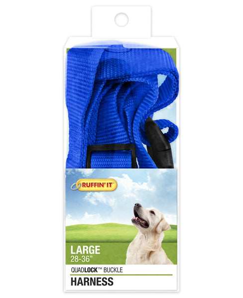 Westminster Pet 7N41476 Ruffin' It Adjustable Dog Harness, Nylon, Assorted Color, 1""