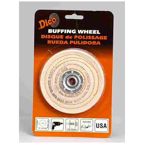 Dico Products 527-40-4 Spiral Sewed Polishing Buffing Wheel, 4""