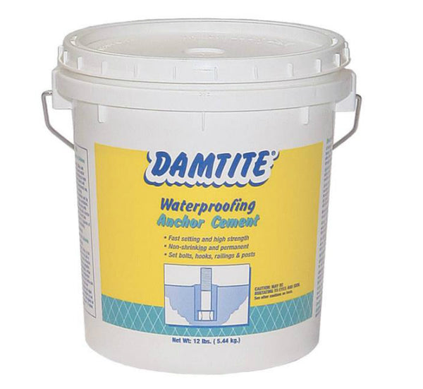 Damtite Waterproofing 08122 Waterproof Anchor Cement, 12 Lbs