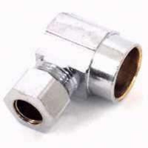 "Plumb Pak PP77PCLF Water Supply Connector Angle, 3/8"" x 1/2"", Chrome"