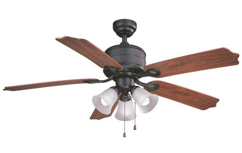 "Boston Harbor AC362+3L-NI-3L Reversible 5-Blade Ceiling Fan, 52"", Natural Iron"