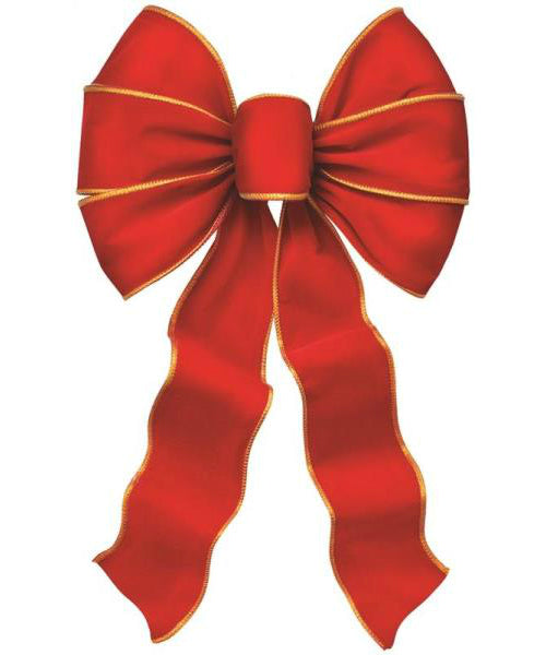 Holiday Trim 6910 5-Loop Christmas Bow, Red and Gold