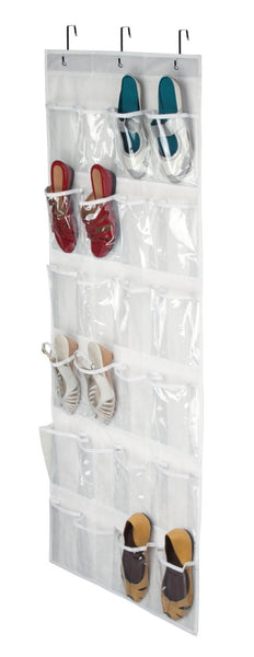 Honey Can Do SFT-01575  24-Pocket Door Shoe Organizer, White