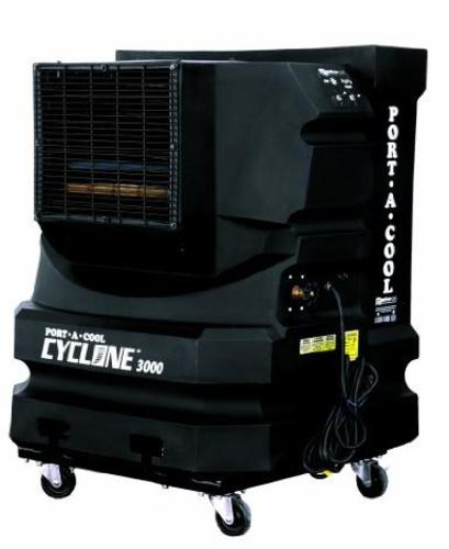 Port-A-Cool  PAC2KCYC01A Cyclone 3000 Portable Evaporative Cooler, Black
