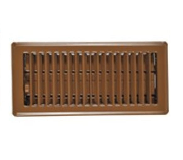 Imperial RG0234 Floor Register Brown, 4 x 10