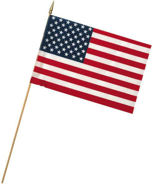 "Valley Forge USE8D U.S. Stick Flags, 8"" x 12"""