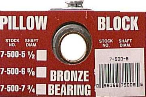 "Chicago 7-500-6 Pillow Bearing Blocks, 5/8"" Bore, 5/16"" bolt size"