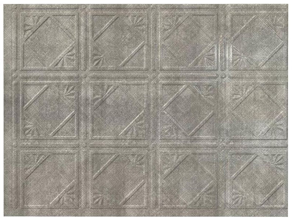 Acoustic Ceiling D6121 Fasade 18 x 24 Inch Backsplash Panel Silver
